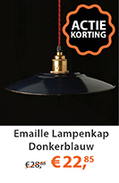 Emaille Lampenkap Donkerblauw