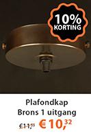 Plafondkap Brons 1 uitgang