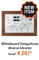 Nieuw Whiteboards met Steigerhout